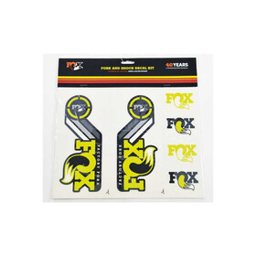Fox Racing Shox AM Heritage Fork and Shock Decal Kit, yellow